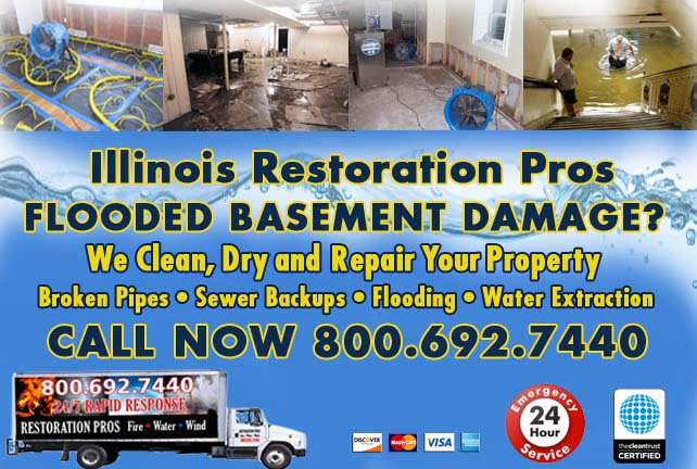 Illinois flooded basement cleanup