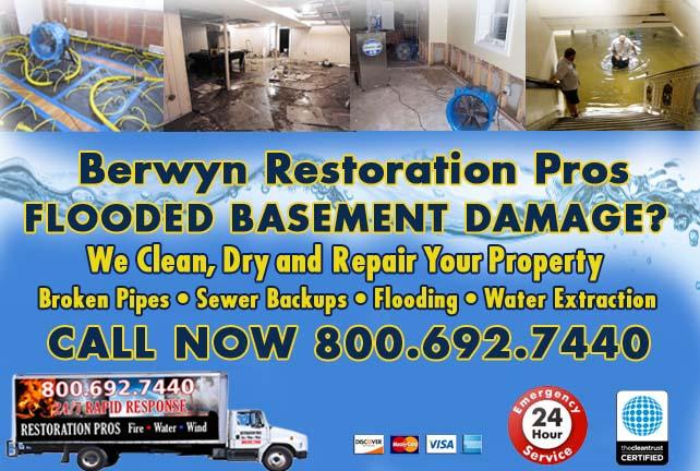 Berwyn flooded basement cleanup