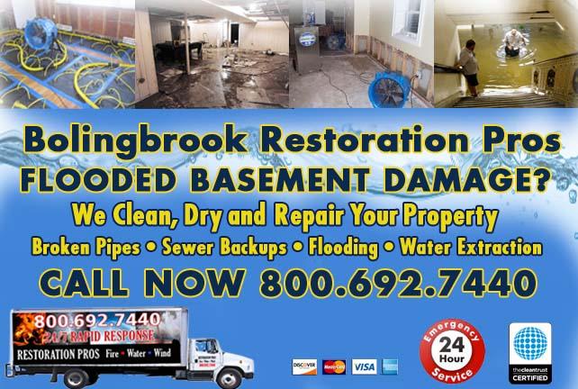 Bolingbrook flooded basement cleanup