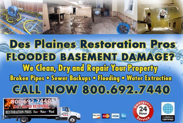 Elgin flooded basement cleanup
