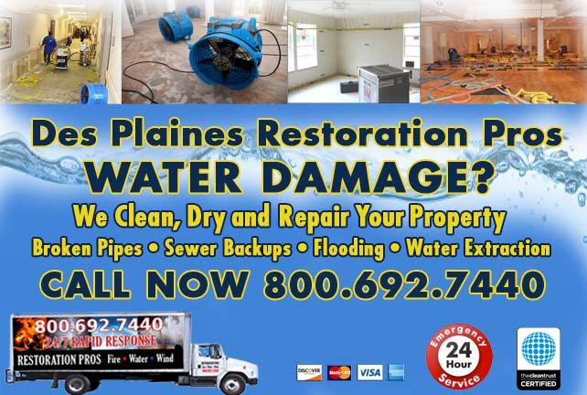 Des Plaines water damage restoration