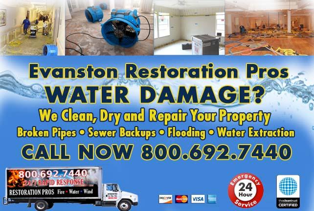 Evanston water damage restoration