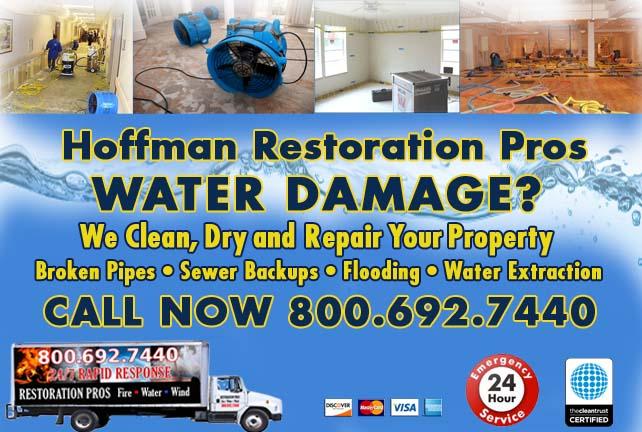Hoffman water damage restoration