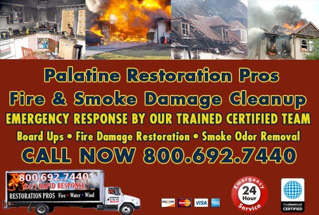 Palatine fire damage repair