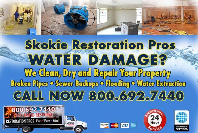 Skokie water damage restoration
