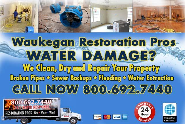 Waukegan water damage restoration
